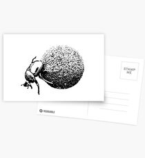 Dung Beetle Rolling Dung Ball | African Wildlife Postcards