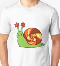 Retro Autumn Swirl Snail T-Shirt
