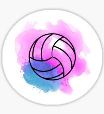 Volleyball Watercolor Sticker