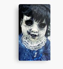 Creepy Dolly Metal Print