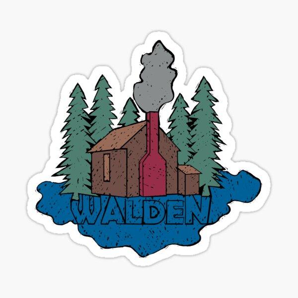 Walden - Henry David Thoreau (Coloured textured version) Sticker