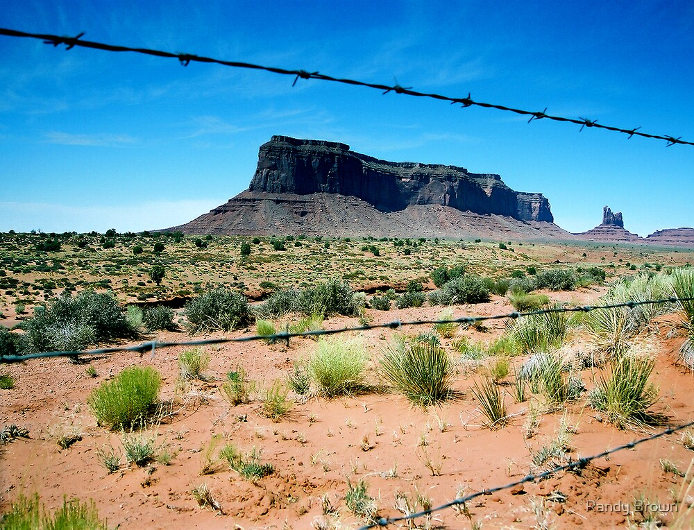 Leaving Monument Valley by Randy Brown