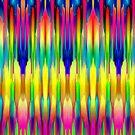 Colorful digital art splashing G490 by MEDUSA GraphicART
