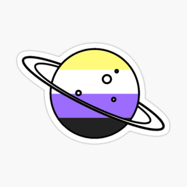 Non-Binary Planet Sticker