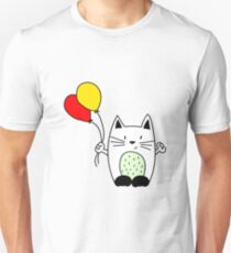 Cat with balloons Unisex T-Shirt