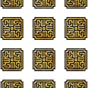 Yellow Sign Tile Minis by Ekliptik