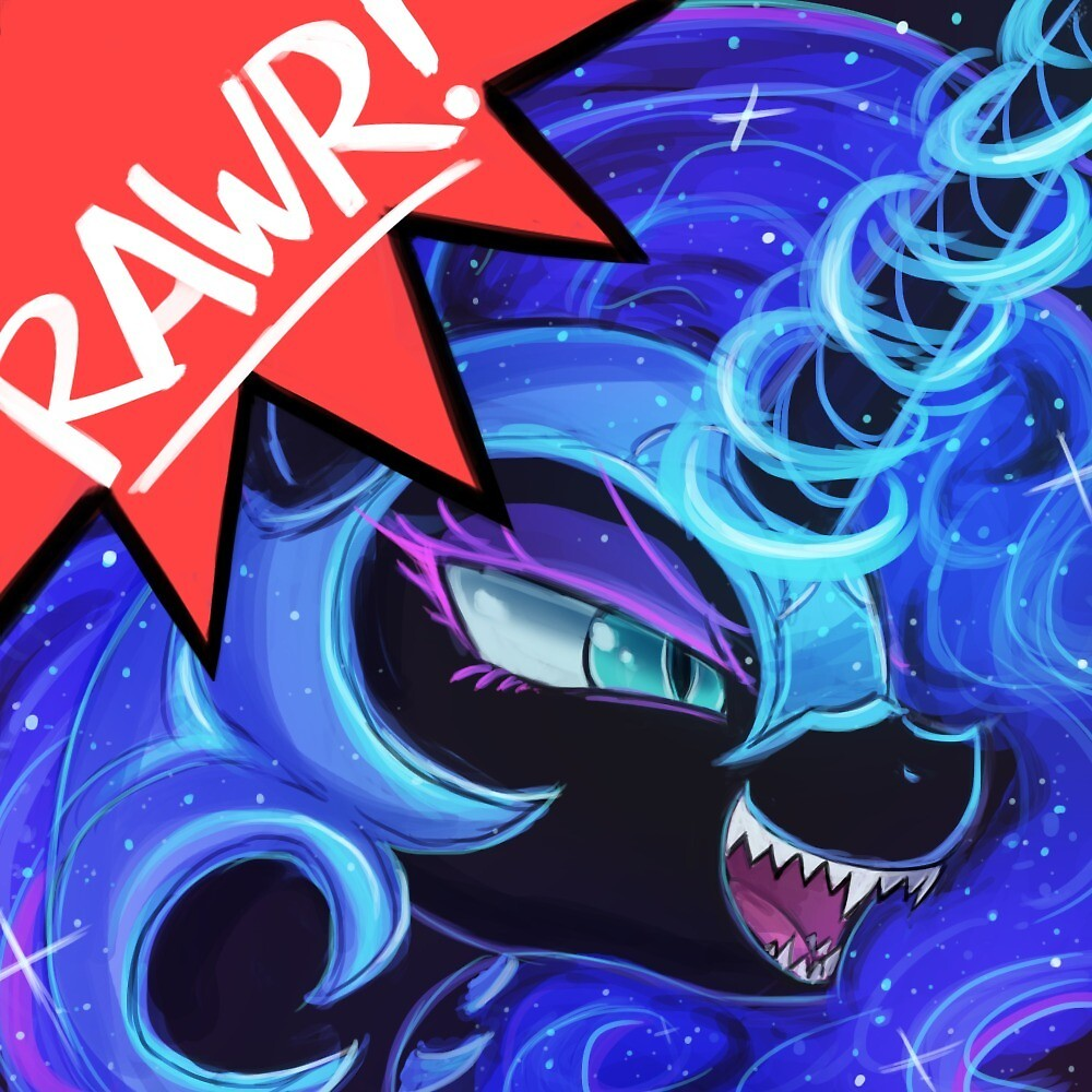 RAWR - Nightmare Moon by lumineko