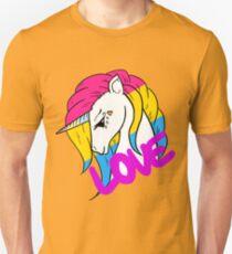 Pansexual Pride Einhorn Slim Fit T-Shirt