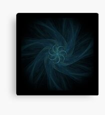 Fractal - 0005 - Spiral Edged in Blue Canvas Print