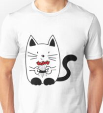 Cat with beautiful roses Unisex T-Shirt