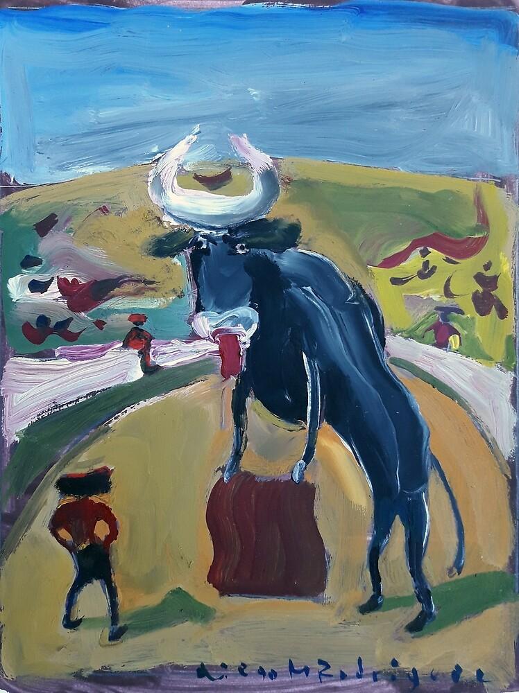 Bull bullfighter by Diego Manuel Rodriguez