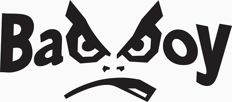 "bad boy - mma logo "" stickersbacktothe90s   redbubble"