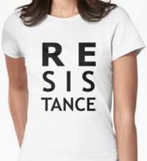 Resistance (black) Women's Fitted T-Shirt
