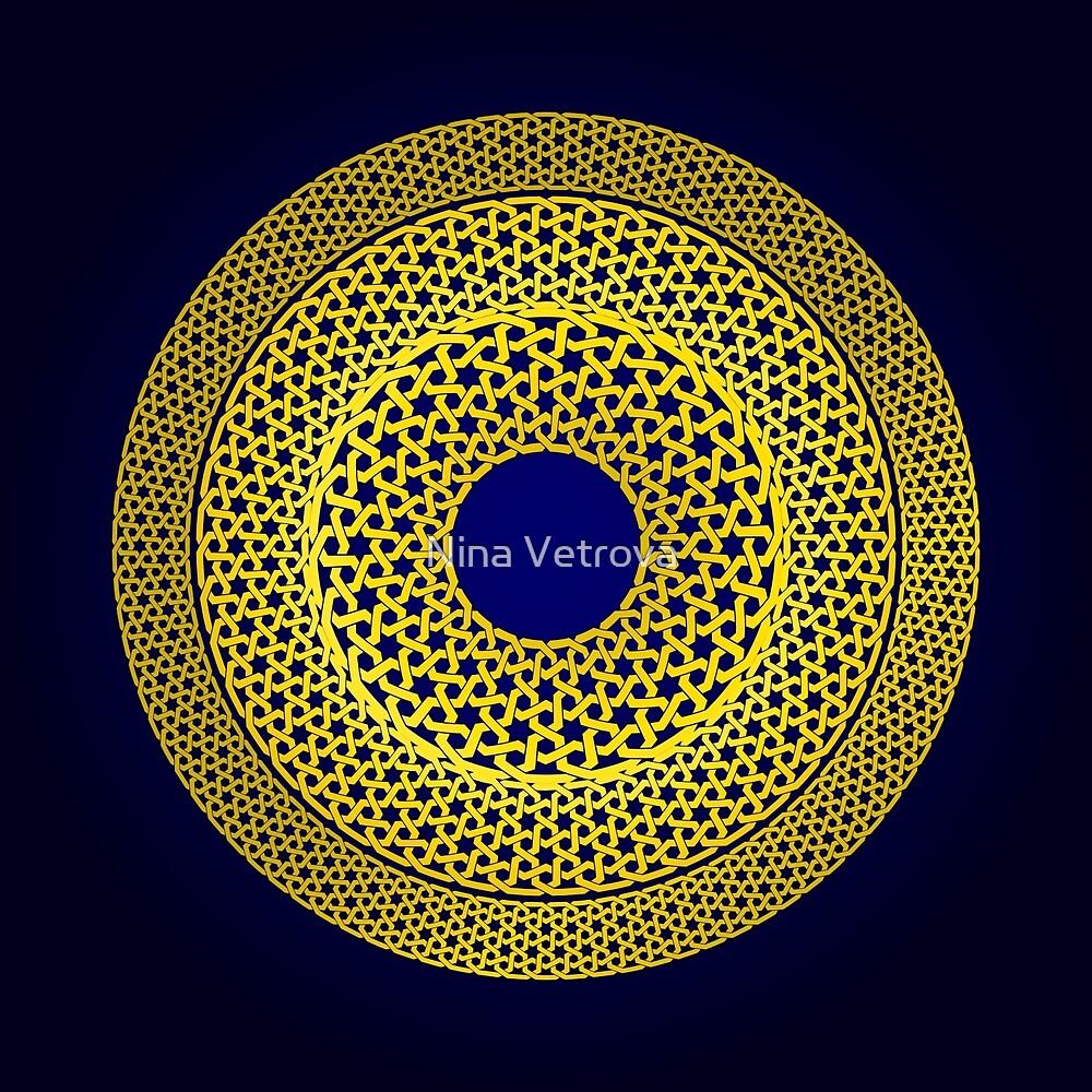 Oriental ornament in a circle by Nina Vetrova