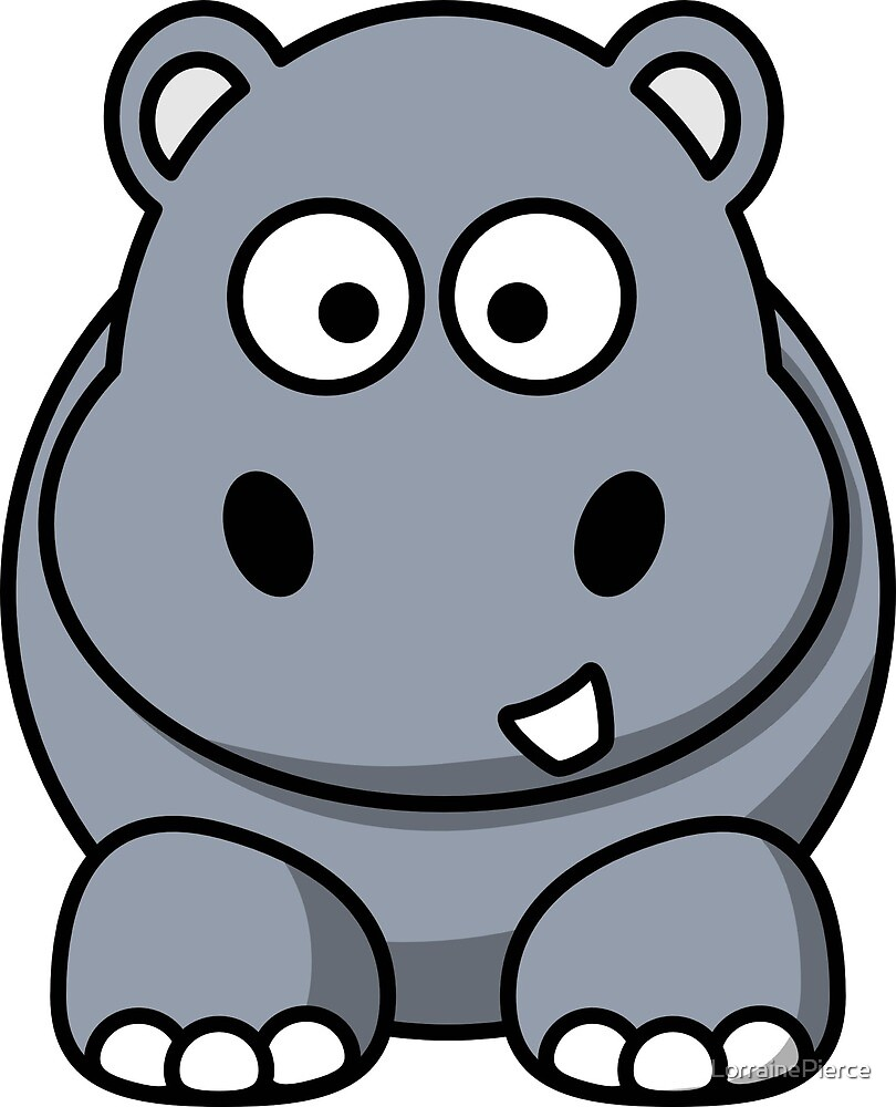 Happy Hippo Graphic by LorrainePierce