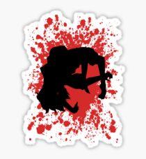 Juuzou Inspired Paint Splatter Anime Shirt Sticker