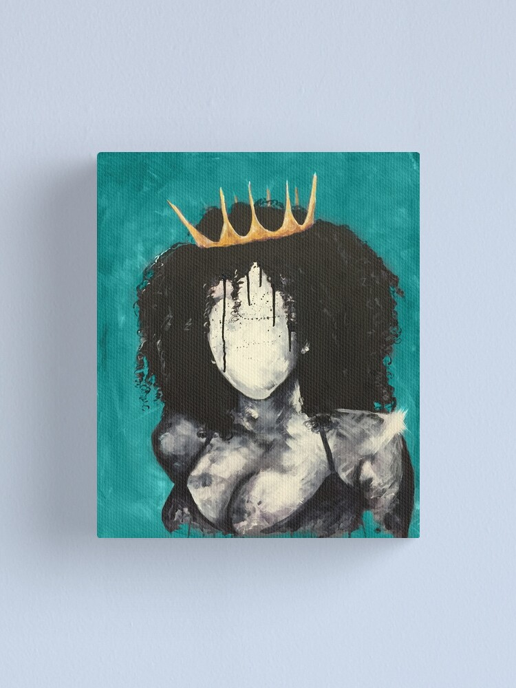 Alternate view of Naturally Queen I TEAL Canvas Print