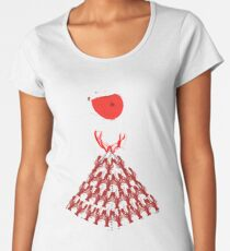 Lobster Dominance Hierarchy - Fire Red  Women's Premium T-Shirt