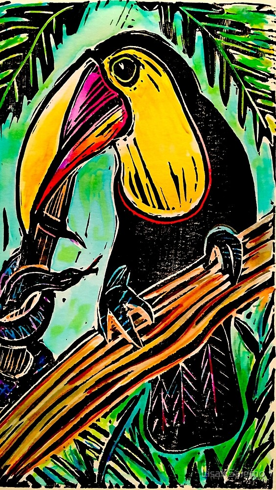 Toucan and Snake by LisaKSalerno