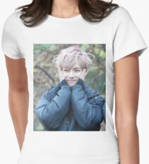 taehyung/ v! Women's Fitted T-Shirt