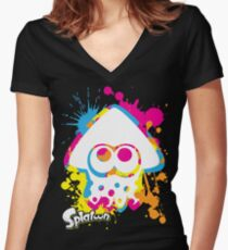 Splatoon Women's Fitted V-Neck T-Shirt