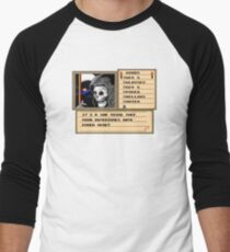 NES Grim Reaper Game Screen Men's Baseball ¾ T-Shirt