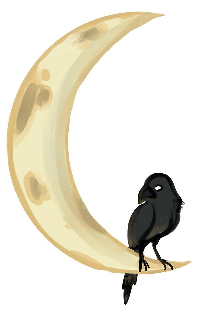 Moon Raven by corlel
