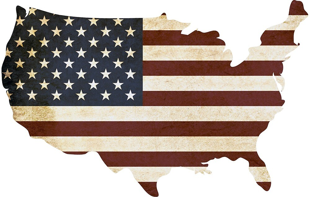 USA Map Flag America by devlinmcguire
