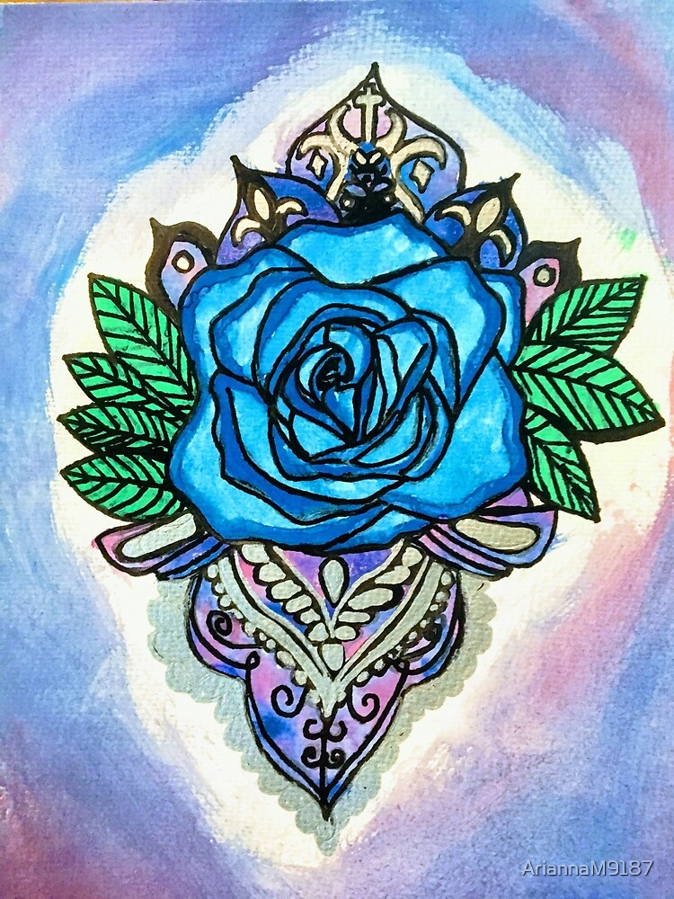 Blue rose by AriannaM9187