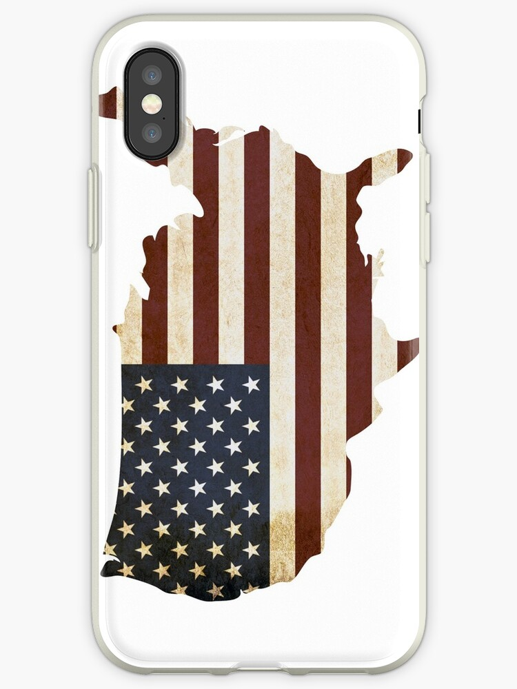 USA Flag Map for Phone Case by devlinmcguire