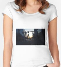 City at Twilight Women's Fitted Scoop T-Shirt