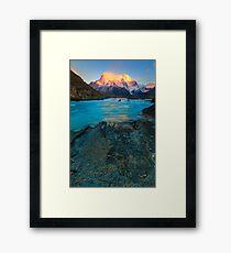 Flaming mountain Framed Print