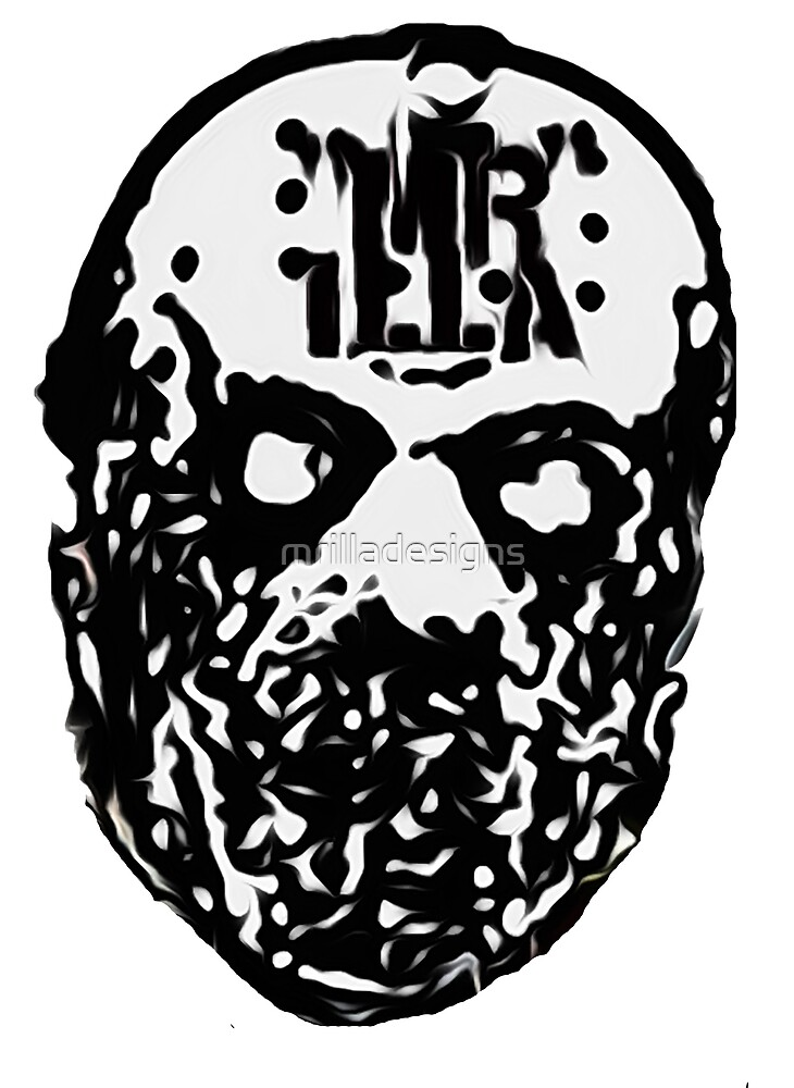mr illa mask sticker horror icon by mrilladesigns