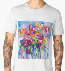 Floral Abstract by Lena Owens Men's Premium T-Shirt