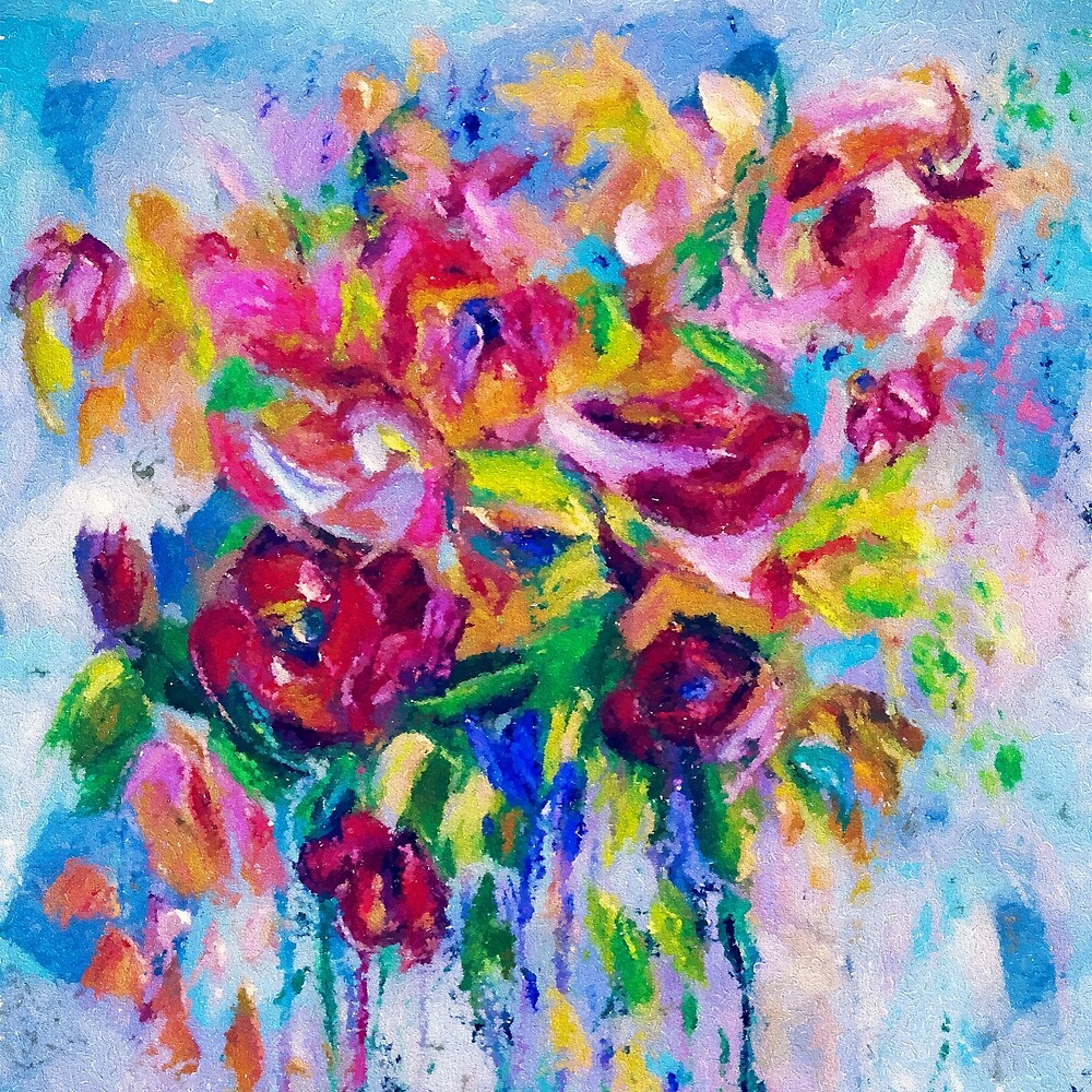 Floral Abstract by Lena Owens by OLena Art @Lena Owens