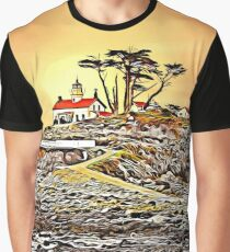 Battery Point  lighthouse in Crescent City, California Graphic T-Shirt