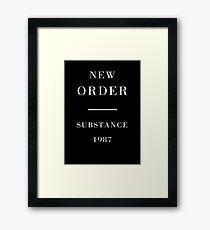 New Order Joy Division Substance shirt Framed Print