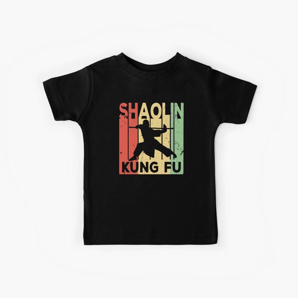 Shaolin Kung Fu Vintage Retro Kinder T-Shirt
