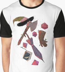 Camiseta gráfica Inventario de zonas de aventura