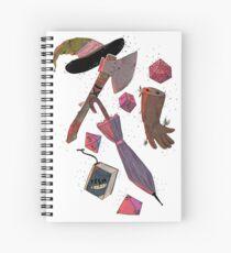 Cuaderno de espiral Inventario de zonas de aventura