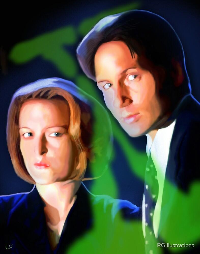 Mulder & Scully by RGIllustrations