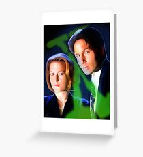Mulder & Scully Greeting Card