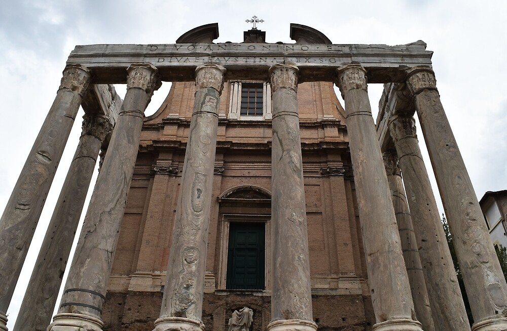 Roman Forum Columns by dukapotomus