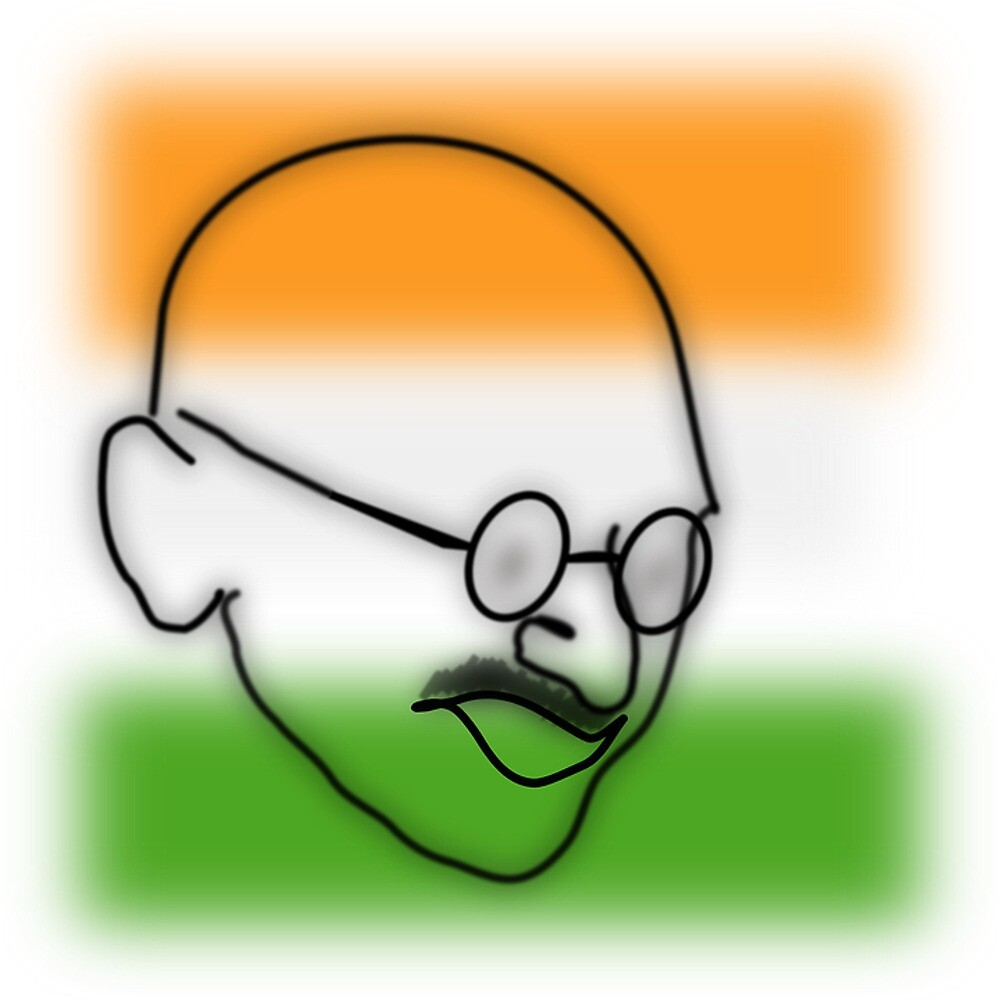 Mahatma Gandhi (Cartoon)  by prodesigner2