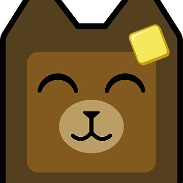 Cute Bear Buttered Toast by azvinylworks