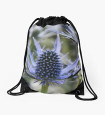 Sea Hollies _ Eryngium maritimum Drawstring Bag
