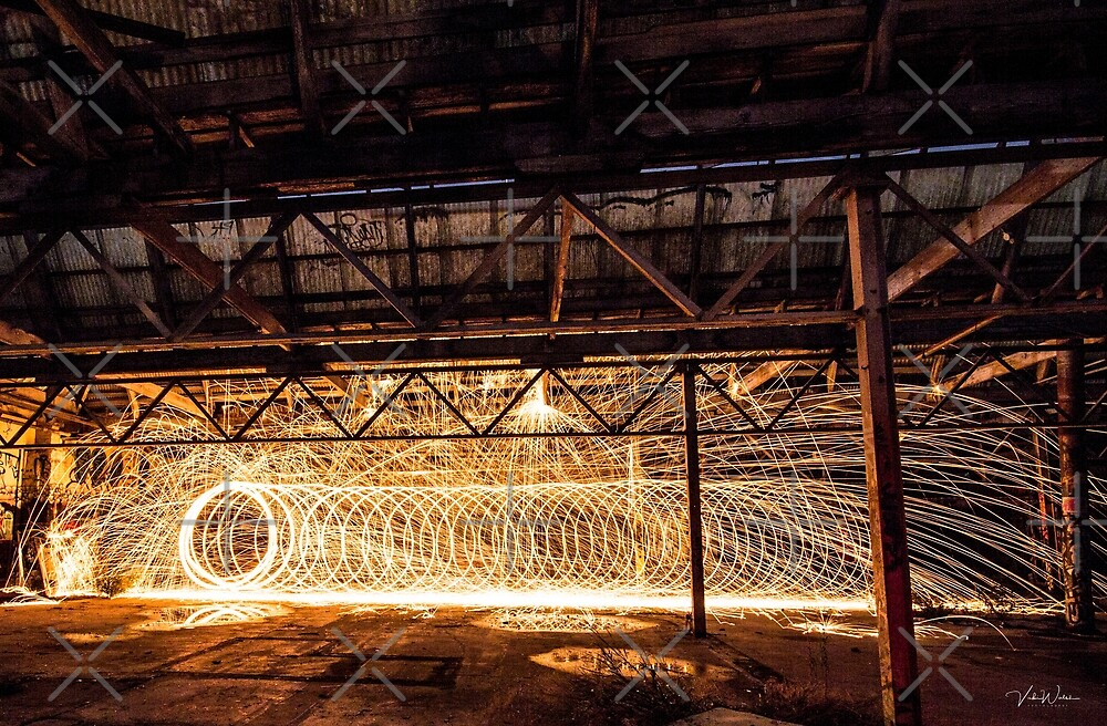 """A Vortex"" Steel Wool Spinning at an abandoned warehouse in Yarraville by VickiWalsh"