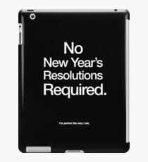 New Year's Resolution iPad Case/Skin