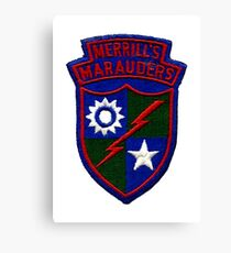 Merrill's Marauders Logo Canvas Print