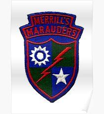 Merrill's Marauders Logo Poster